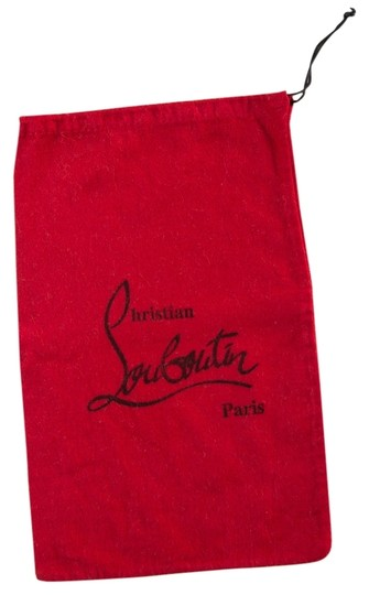 Christian Louboutin Christian Louboutin red drawstring shoe bag