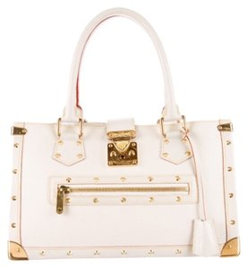 Authentic louis vuitton suhali le fabuleux tote Satchel in Ivory