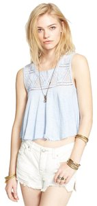 Free People Top Angle Blue