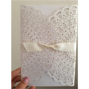 20 Laser Cut Rectangular Wedding Invitation