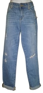 Gap Baggy Cuffed Relaxed Boyfriend Cut Jeans-Medium Wash
