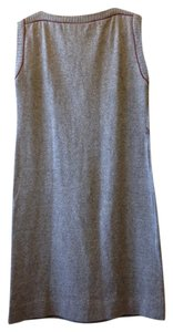 Grey/Burgandy Trim Maxi Dress by Vicki Vaughn