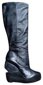 AllSaints All Grunge 9.5 9.5 Tall 9.5 Tall Wedge Heel Wedge Wedge Heel 9.5 Black Knee High Boots