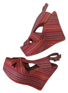 Jeffrey Campbell Red, yellow Wedges