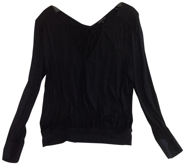 Theory Super Sexy Rayon Sleeves Size M Top Black