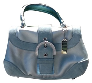 Coach Light Mini Satchel Blue Clutch