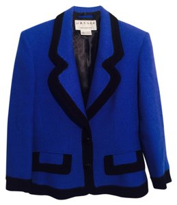 Jaeger Vintage Jacket Suit Blue and Black Blazer