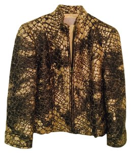 Emil Rutenberg Sportswear Animal Print Green Gold Jacket