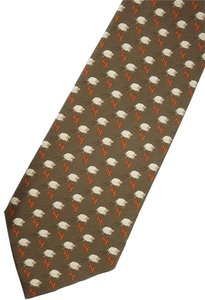 Hermès CHRISTMAS GIFT? AUTHENTIC 100% SILK HERMES CHARACTER TIE : SHEEPS IN BROWN WITH ITS ORIGINAL HERMES PACKAGE