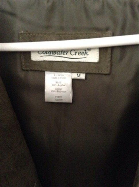 Coldwater Creek Green Suade Jacket