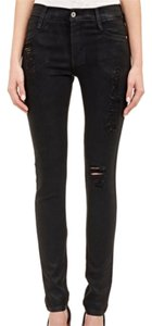 James Jeans James Skinny Distressed Denim Black Skinny Jeans