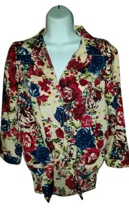 Charlotte Russe Button Down Shirt floral