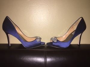 Badgley Mischka Lavender Ii Satin Wedding Shoes