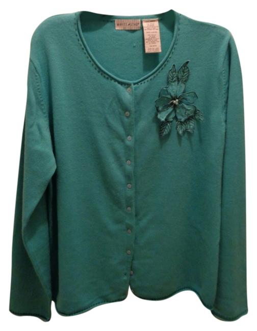 Preload https://item3.tradesy.com/images/white-stag-teal-cardigan-size-16-xl-plus-0x-9069592-0-2.jpg?width=400&height=650