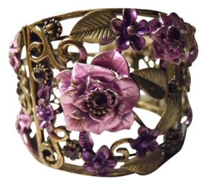 unknown Floral cuff bracelet
