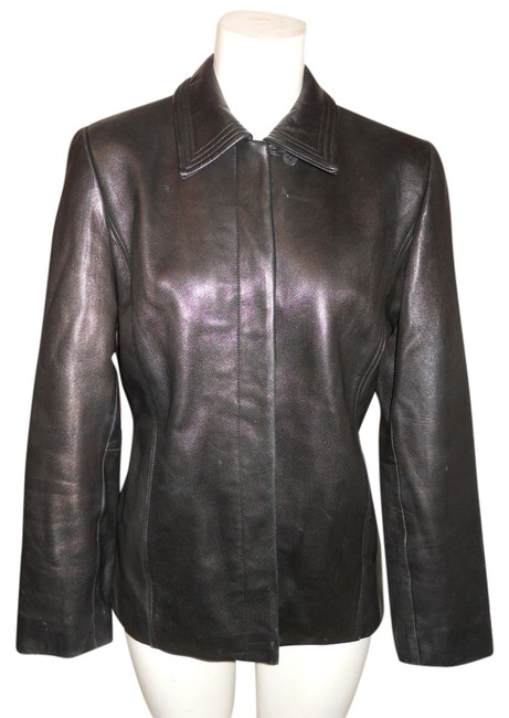 Preload https://item4.tradesy.com/images/ann-taylor-black-leather-jacket-size-4-s-9069823-0-2.jpg?width=400&height=650