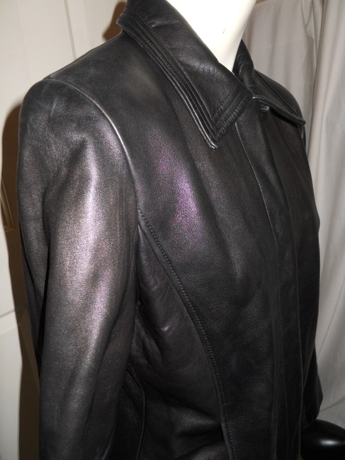 Ann Taylor black Leather Jacket