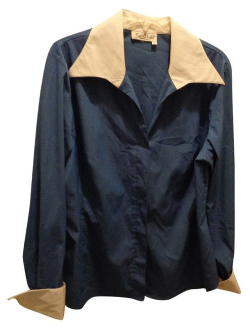 Preload https://item3.tradesy.com/images/fred-david-blue-button-down-top-size-16-xl-plus-0x-9070327-0-2.jpg?width=400&height=650