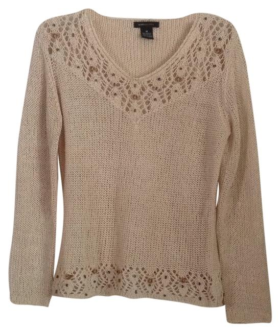 Preload https://item2.tradesy.com/images/bcbgmaxazria-tan-sweaterpullover-size-8-m-9070411-0-2.jpg?width=400&height=650