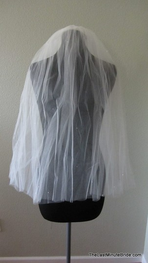 Jennifer Leigh Couture Veils and Accessories Diamond White Medium Bridal Veil