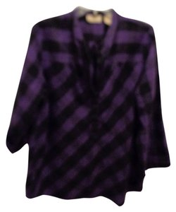Art and Soul Top Purple/Black