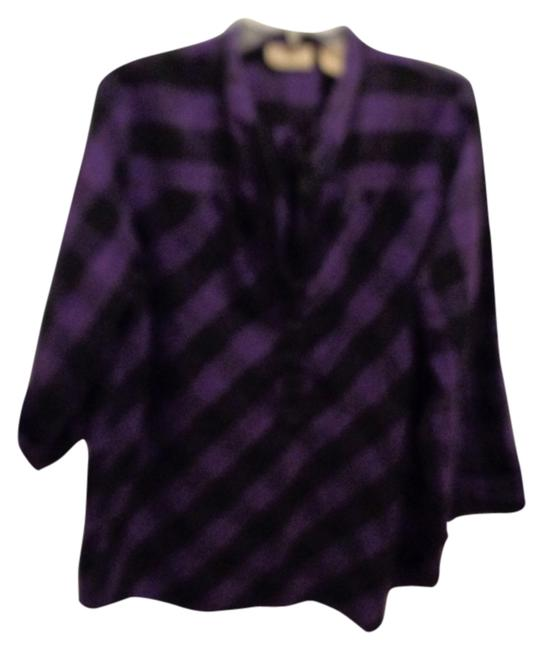 Preload https://item1.tradesy.com/images/art-and-soul-purpleblack-shirt-blouse-size-16-xl-plus-0x-9071620-0-2.jpg?width=400&height=650