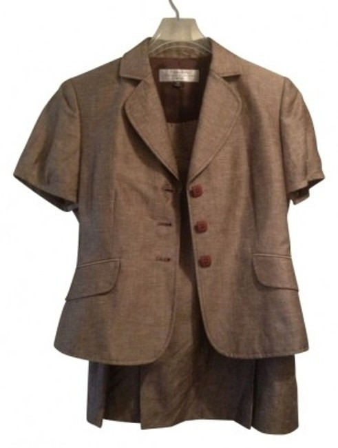 Elie Tahari Brown skirt suit