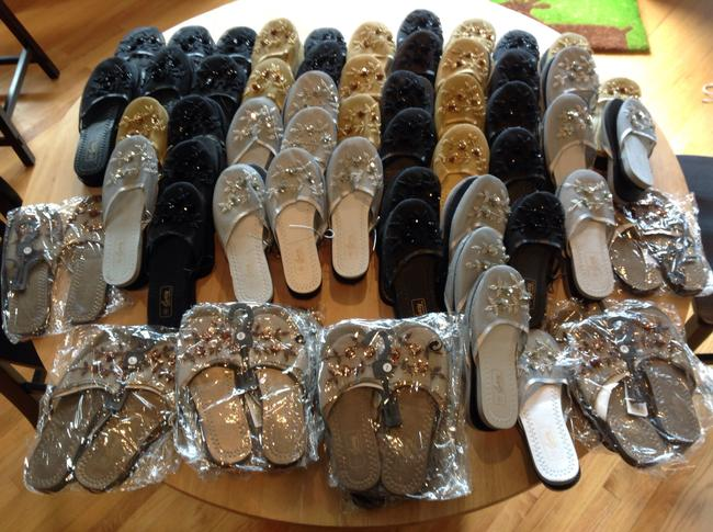 """Item - Black Silver Gold and Copper Wedding Guest """"Dancing Shoes"""""""
