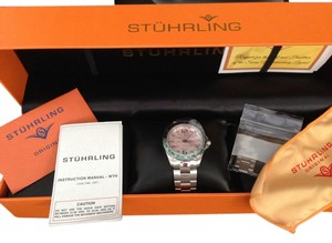 Stührling Stuhrling Original Women's Aquadiver Regatta Galleon Swiss Quartz Date Stainless Steel Bracelet Watch