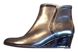 Bruno Magli Patent Leather Leather Black Boots