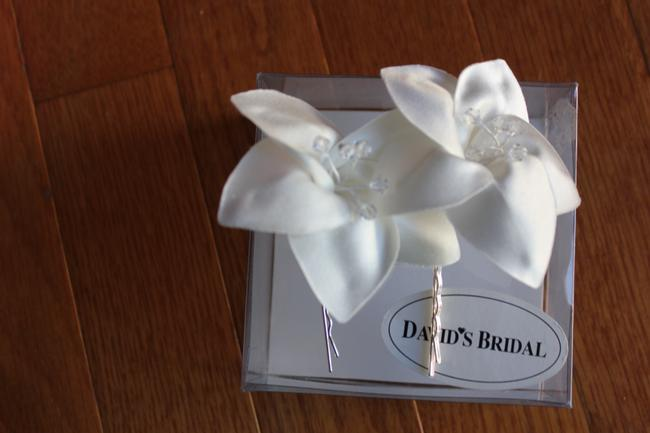 Item - Ivory Box Flower Hair Clips New In