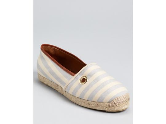 Hunter Blue / Beige Stripe Flats