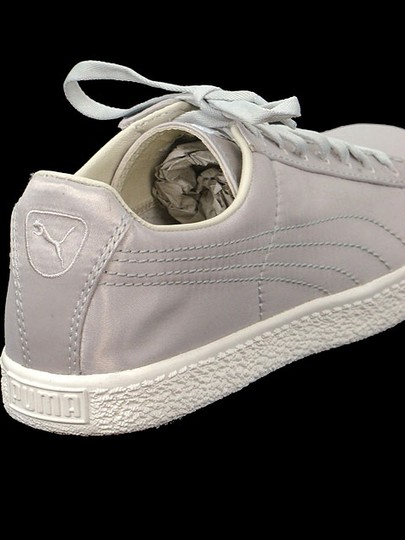 Sergio Rossi for Puma Flat Satin Sneakers Round Toe Ballerina Gray Athletic