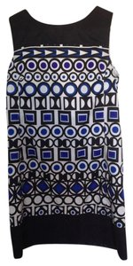 mark. short dress Black White & Blue Summer Vintage Cute Tunic on Tradesy