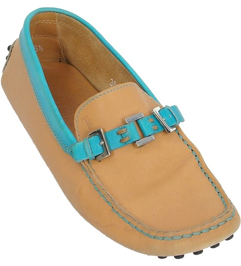 Preload https://item5.tradesy.com/images/tod-s-caramel-tan-and-turquoise-leather-driving-loafers-flats-size-us-65-908064-0-0.jpg?width=440&height=440