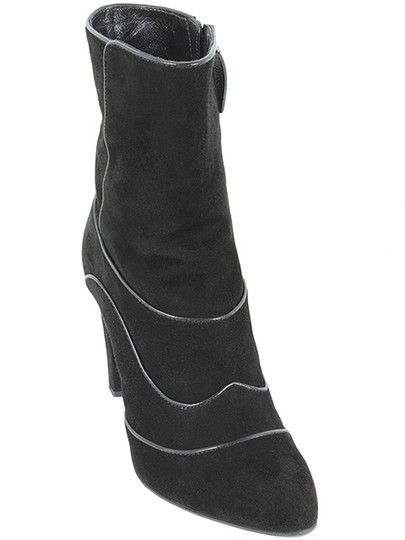 Tod's Chunky Suede Embellished Ankle Black Boots