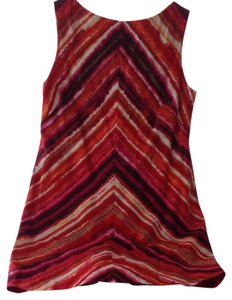 Jones New York short dress Red Orange Pink Linen Of Sleeveless on Tradesy