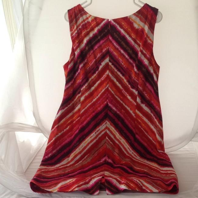Jones New York short dress Red Orange Pink Linen Sleeveless on Tradesy