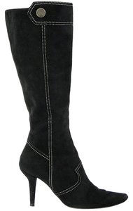 Tod's Boot Stitched Suede Black Boots