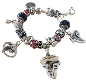PANDORA Pandora Bracelet w/European Charms Atlanta Falcons Theme