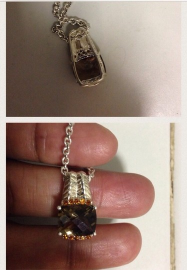 Other Sterling Silver Topaz & Citrine Necklace
