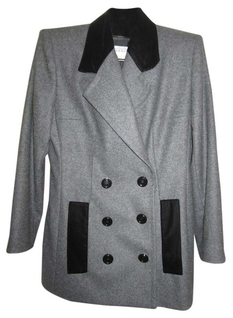 Preload https://item1.tradesy.com/images/givenchy-gray-f46-wool-chesterfield-jacket-couture-skirt-suit-size-14-l-9081775-0-2.jpg?width=400&height=650