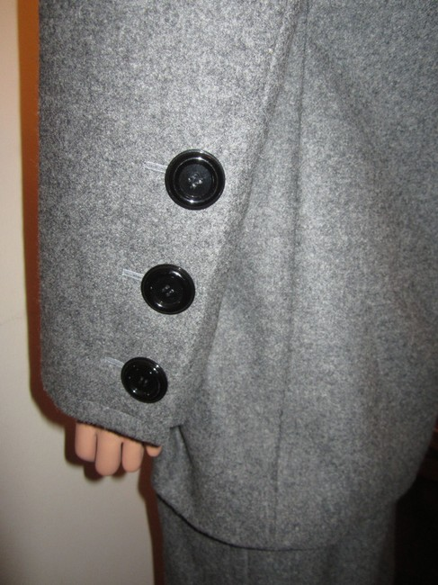 Givenchy NWT F46 Gray Wool Suit Chesterfield Jacket Skirt Couture