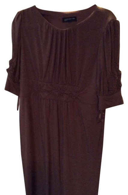 Preload https://img-static.tradesy.com/item/9081799/jones-new-york-beige-taupe-color-mid-length-workoffice-dress-size-16-xl-plus-0x-0-4-650-650.jpg