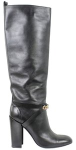Yves Saint Laurent Chunky Chain Black Boots