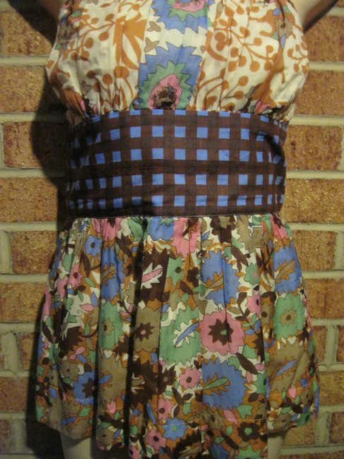 Plenty by Tracy Reese Bustier Floral Flowers Strapless Top Multi