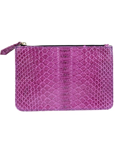 The Artisan Artisan House Accessories - Purple Snake Leather Wallet