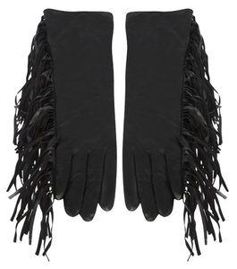 SuperTrash Fringe Leather Gloves