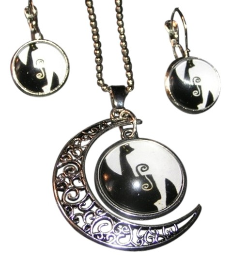 Preload https://item2.tradesy.com/images/silverblackwhite-bogo-abstract-half-moon-glass-cabochon-2pc-set-free-shipping-necklace-9082861-0-2.jpg?width=440&height=440