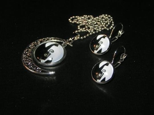 Other BOGO Abstract Half Moon Glass Cabochon 2pc Set Free Shipping